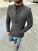 Мужское пальто темно-серого цвета размеры L, XL