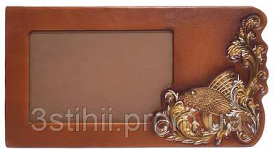 Рамка для фото Макей Золотая рыбка кожаная (519-08-03)