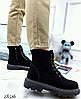 Ботинки женские демисезон Horoso на шнурках бежевые, фото 4