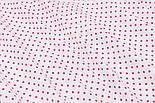 Ткань с малиновым горошком 3 мм на белом фоне (№196а), фото 5