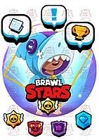 Вафельная картинка на торт brawl stars 17