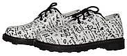 Женские кожаные туфли мартинс Kurag 1-009-38 белые с принтом 38, фото 2