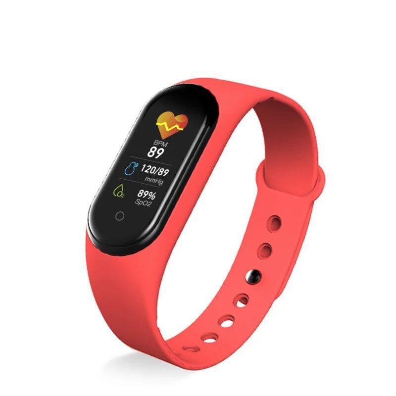 Фитнес-браслет М5 Красный