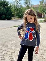 Туника детская для девочки Кошечки 122;128;134;140 см, фото 1