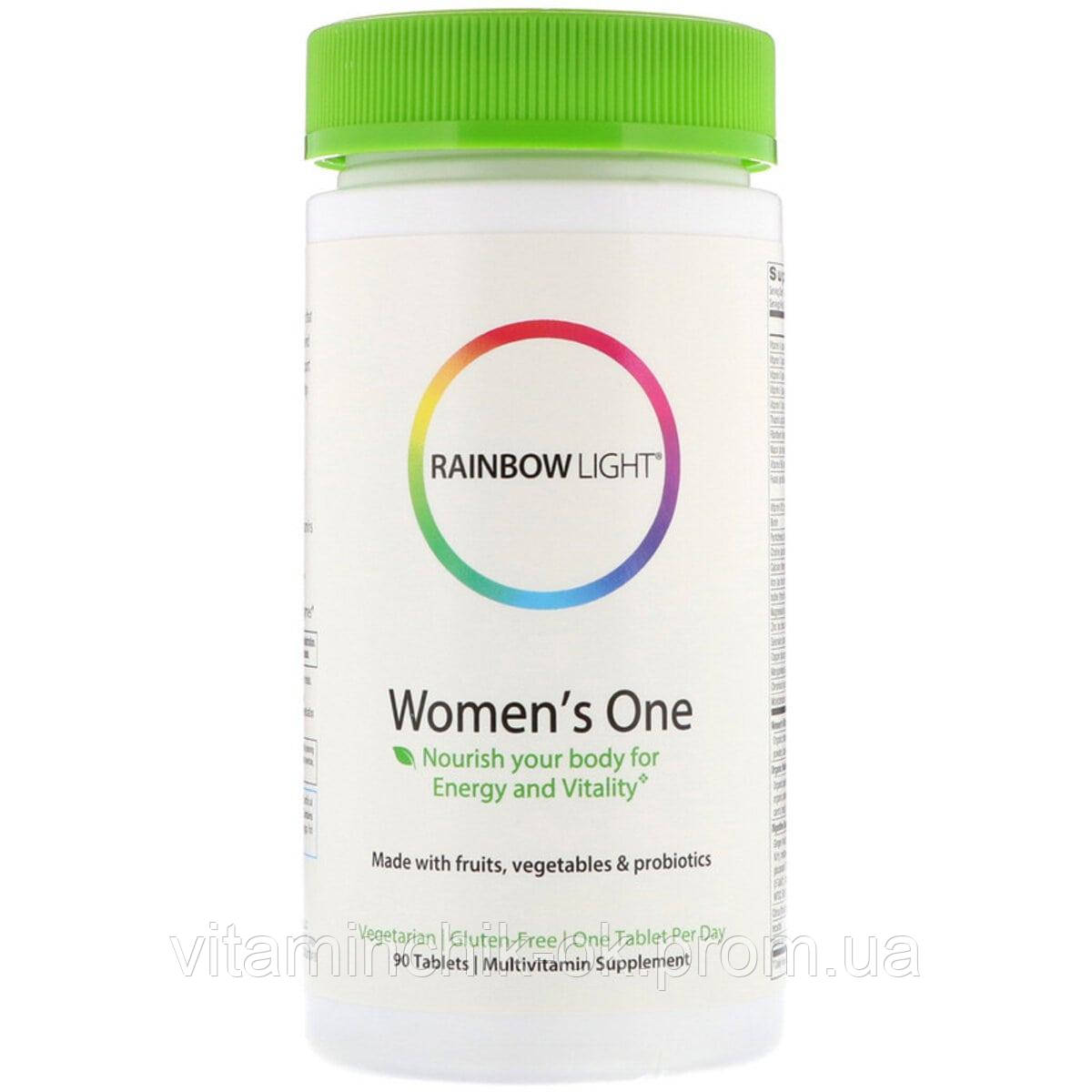 Мультивитамины для Женщин, Women's One, Rainbow Light, 90 таблеток