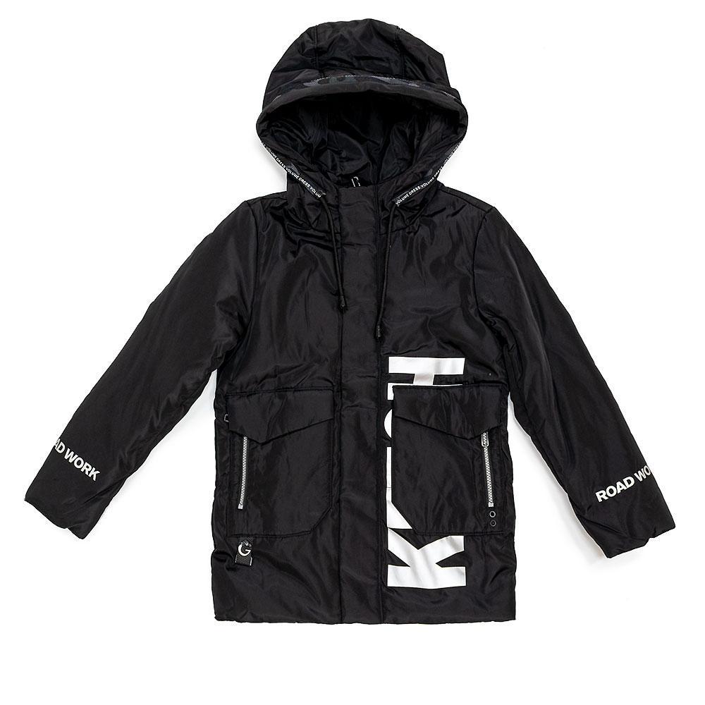 Куртка демисезонная для мальчиков Soodoo 134  чёрная 981147