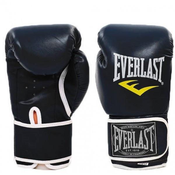 Перчатки боксерские Кожа PU Everlast (BO-3987) 10 унций Черный