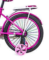 Велосипед T18 розовый 18 дюймов, фото 3