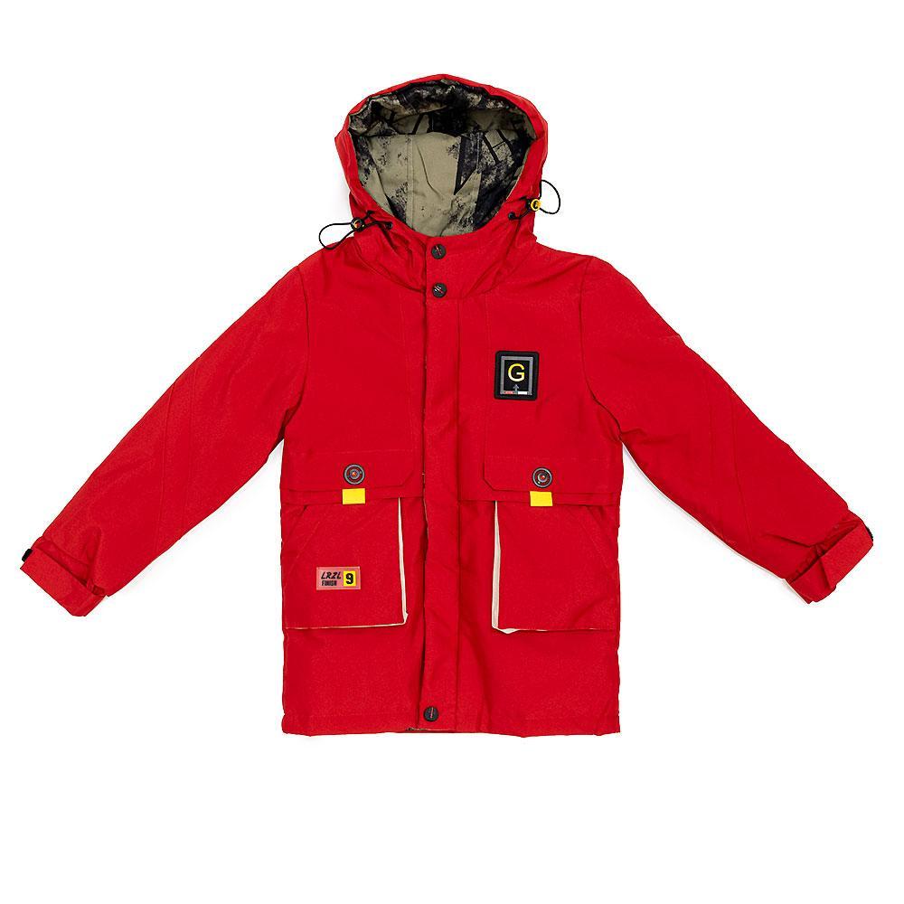Куртка демисезонная для мальчиков Jiekei 128  красная 981151