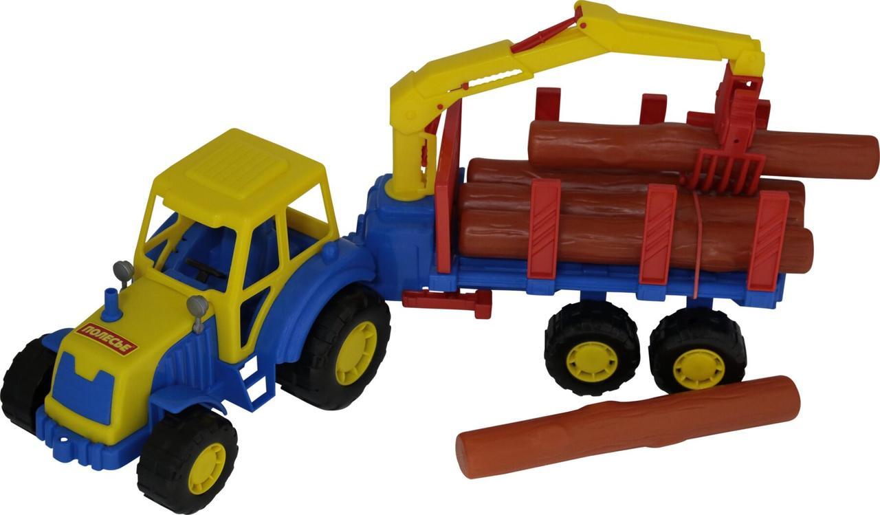 """Трактор Polesie """"Мастер"""" c полуприцепом - лесовозом (35295)"""