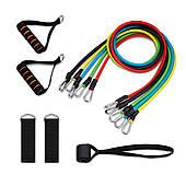 Гумові еспандери трубчасті набір для фітнесу багатофункціональний 5 джгутів 10-30 Lbs Power Bands