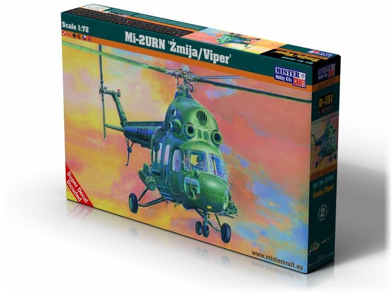 Ми-2 УРН. Сборная модель вертолета в масштабе 1/72. MISTER CRAFT D-151