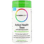 Мультивитамины Для Подростков, Активность, Здоровье и Чистая Кожа, Rainbow Light, 90 таблеток