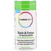 Мультивитамины Для Подростков И Взрослых, Для Умственной Деятельности И Концентрации Внимания, Rainbow Light,