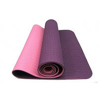 Йога-мат TPE 8мм двухцветнойетный 61*173см R17822