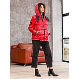 Куртка жіноча зимова коротка розміри 48-54, фото 2