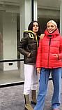 Куртка жіноча зимова коротка розміри 48-54, фото 5