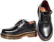 Женские кожаные туфли мартинс Kurag 1-010-36 черные 36, фото 3