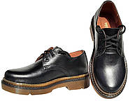 Женские кожаные туфли мартинс Kurag 1-010-38 черные 38, фото 2