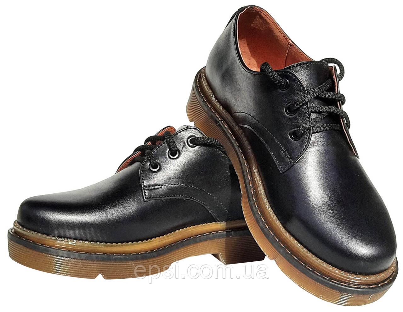 Женские кожаные туфли мартинс Kurag 1-010-40 черные 40