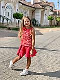 Детский костюм для девочек гипюр кружевнойна рост 116, 122, 128 см, фото 2