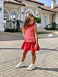 Детский костюм для девочек гипюр кружевнойна рост 116, 122, 128 см, фото 8
