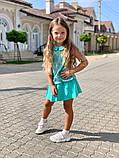 Детский костюм для девочек гипюр кружевнойна рост 116, 122, 128 см, фото 9