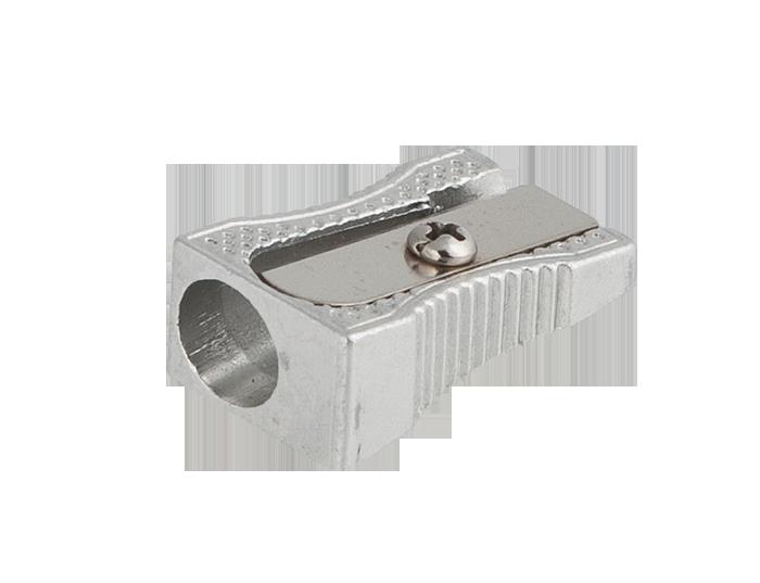 Точилка клиноподобная SILVER, 1 отв., метал. корпус, серебристая