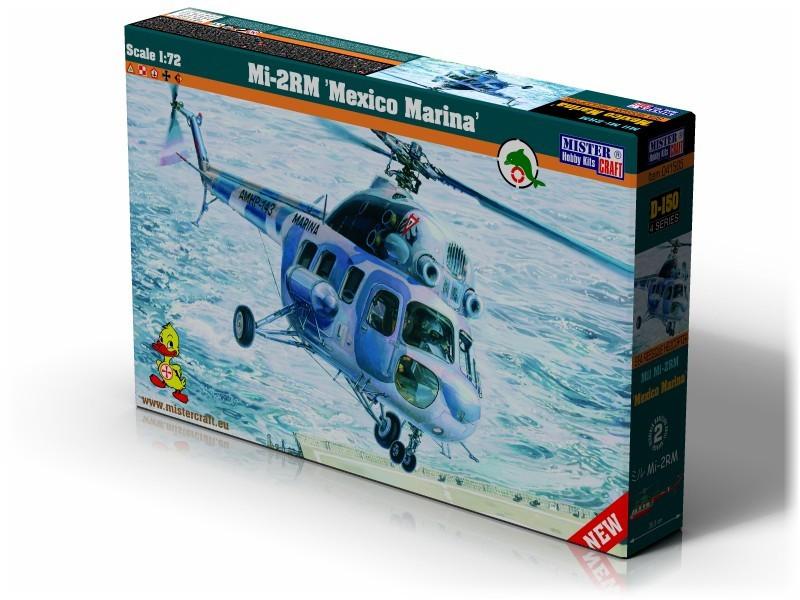 Ми-2 Mexico Marina. Сборная модель вертолета в масштабе 1/72. MISTER CRAFT D-150