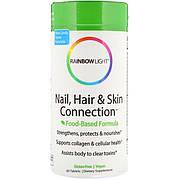 Витамины для ногтей, волос и кожи, Nail, Hair & Skin Connection, Food-Based Formula, Rainbow Light, 60
