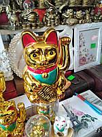 Манэки неко (кіт щастя, вабливий кіт) фен - шуй, висота 18 див.