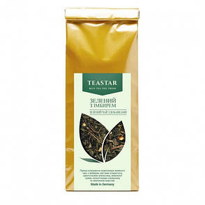 Зеленый Чай с имбирем крупно листовой Tea Star 100 гр, фото 2