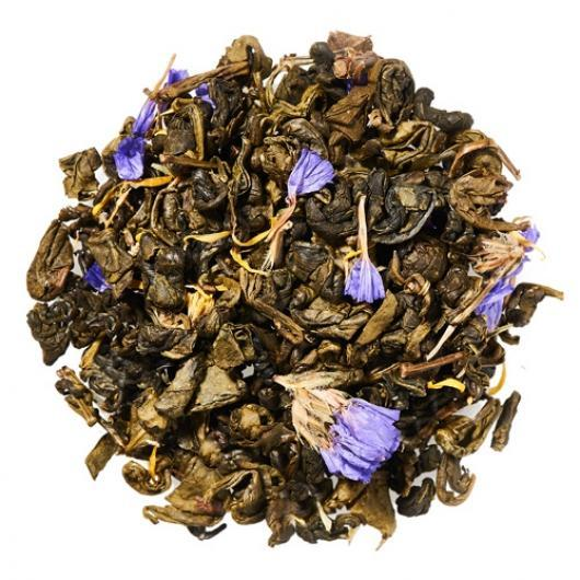 Зеленый Чай зеленая улитка с ягодами крупно листовой Tea Star 100 гр
