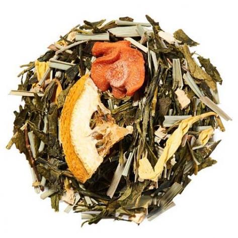 Зеленый Чай Имбирь лимонграс крупно листовой Tea Star 50 гр, фото 2