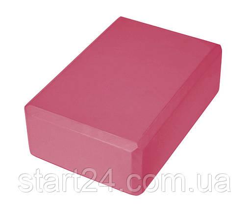 Блок для йоги SportVida SV-HK0168 Pink, фото 2