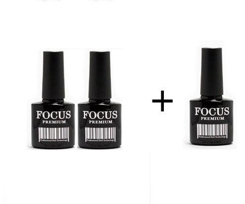 Набор гель-лаков Focus 2+1 в подарок