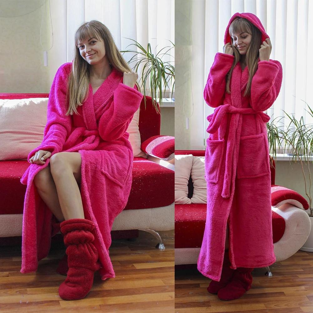 Теплый домашний халат