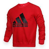 Свитшот мужской красный ADIDAS с лого RED L(Р) 20-102-002
