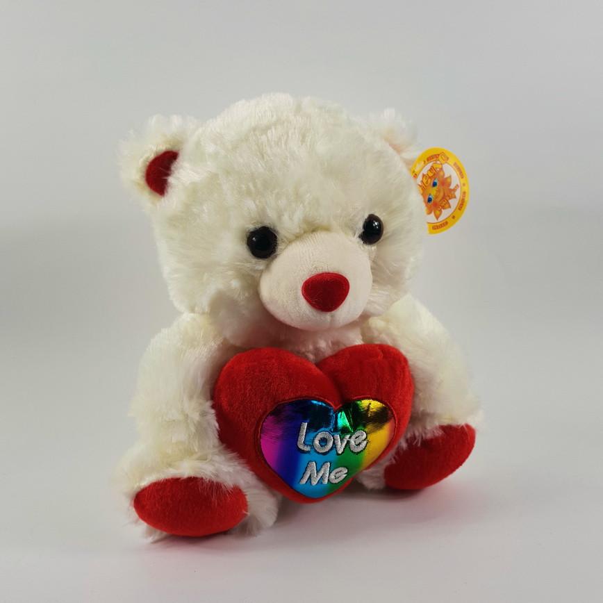 Медведь с сердцем 22 см (музыка)