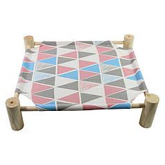 Лежак для кошек Taotaopets 501107 Треугольник Розовый 53,5*48,5*13cm гамак деревянный каркас