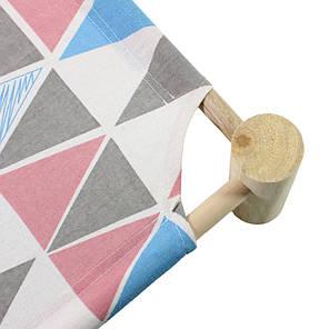 Лежак для кошек Taotaopets 501107 Треугольник Розовый 53,5*48,5*13cm гамак деревянный каркас, фото 2