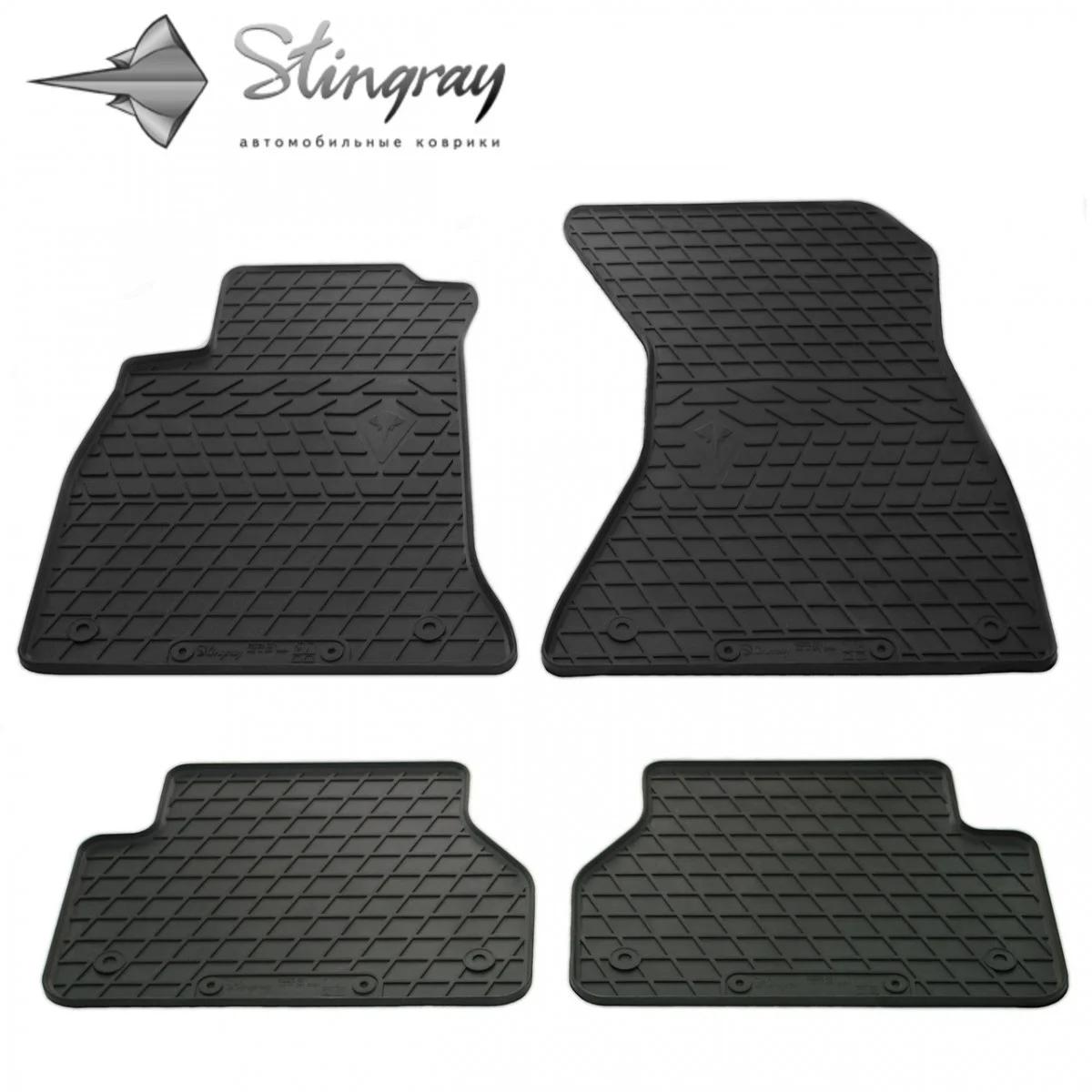 Резиновые коврики в автомобиль Audi A8 (D4) Short 2010- Stingray Полный комплект