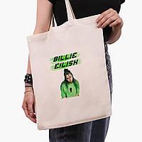 Эко сумка шоппер Билли Айлиш (Billie Eilish) (9227-1207)  экосумка шопер 41*35 см, фото 1