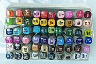 Набор скетч-маркеров 60 шт. для рисования двусторонних Aihao sketchmarker код: PM508-60
