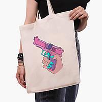 Эко сумка шоппер Убивство Диджитал Арт (Kill Digital art) (9227-1636)  экосумка шопер 41*35 см, фото 1