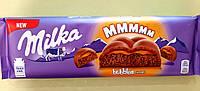 Шоколад Milka пористый с карамелью молочный 250 г, фото 1