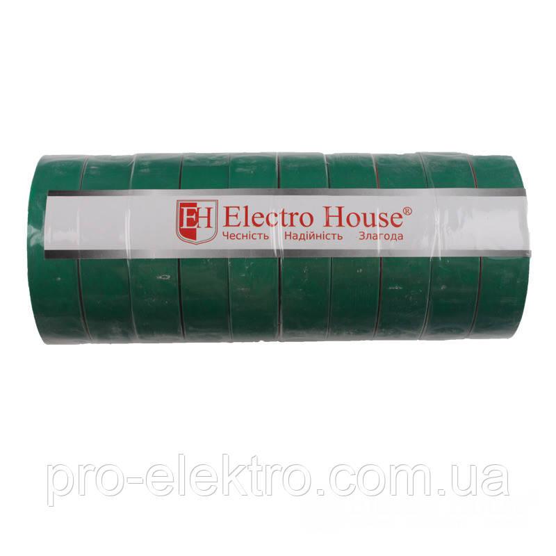 EH-AHT-1832 Зелёная изолента 25м. 0,15мм х 18мм