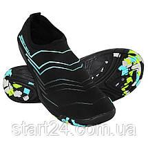 Обувь для пляжа и кораллов (аквашузы) SportVida SV-GY0005-R37 Size 37 Black/Blue, фото 2