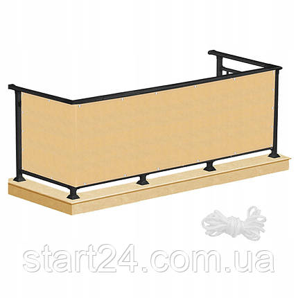 Ширма для балкона (балконный занавес) Springos 0.9 x 5 м BN1013 Biege, фото 2
