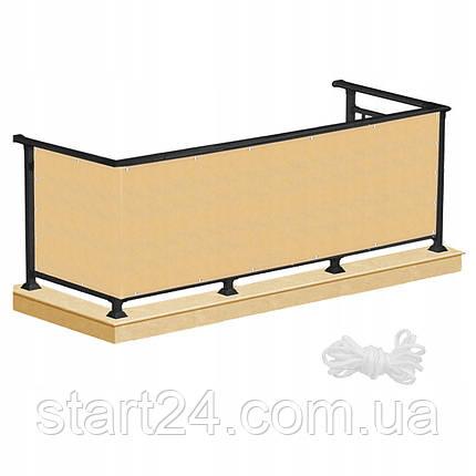 Ширма для балкона (балконный занавес) Springos 0.9 x 3 м BN1021 Biege, фото 2